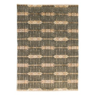 Grit And Ground Jewel Lariat Hand Knotted Area Rug Overstock 31426024