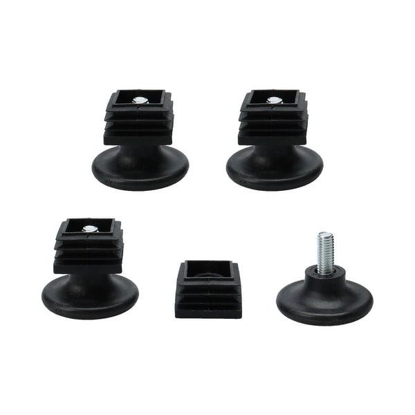 Leveling Feet 30 x 30mm Tube Inserts Furniture Desk Adjustable Leveler 4 Sets