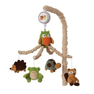 Lambs & Ivy Brown Echo Musical Baby Crib Mobile
