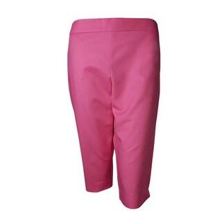 Charter Club Women's Modern Fit Skimmer Capri Pant - Pink - 8P