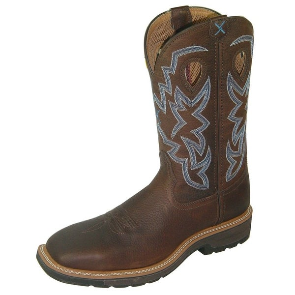 Twisted X Work Boots Mens Western Steel Toe Brown Pebble