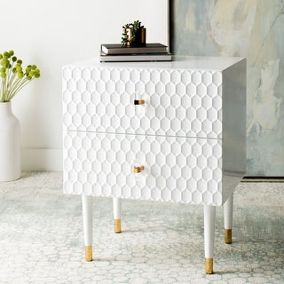 "Safavieh Couture Neptune 2 Drawer Side Table - 21.3""x16.9""x25.6"""