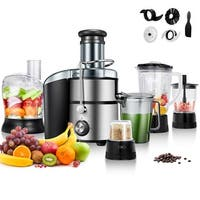 Gymax 5in1 Multifunction Juice Extractor Juicer Blender Grinder Chopper Food Processor - as pic