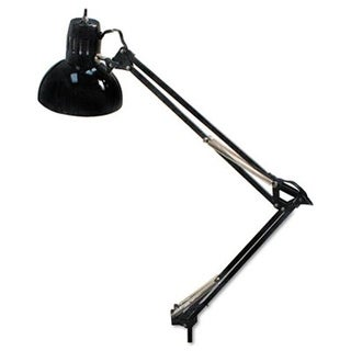 Ledu L502BK Opti Series Swing Arm Incandescent Lamp 34 Reach Black