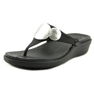Crocs Sanrah  Women  Open Toe Synthetic Black Thong Sandal