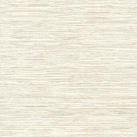 York Wallcoverings WB5501 Botanical Fantasy Horizontal Grasscloth Wallpaper - white/cream/pale taupe - N/A