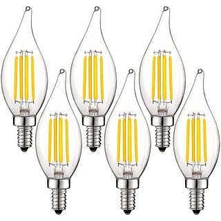 Link to Luxrite 5W Vintage E12 LED Bulb 60W Equivalent, 550 Lumens, Dimmable Candelabra LED Bulbs, Clear Glass (6 Pack) Similar Items in Light Bulbs