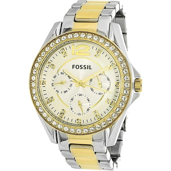 146dc819b69f Fossil Women  x27 s Riley Silver Stainless-Steel Quartz Fashion Watch