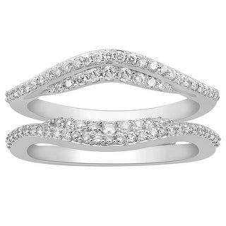 1/2cttw Diamond Wedding Ring Jacket 14K White Gold 12mm Wide(0.5 cttw)