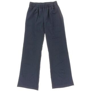 Aqua Womens Solid Wide Leg Casual Pants - XS