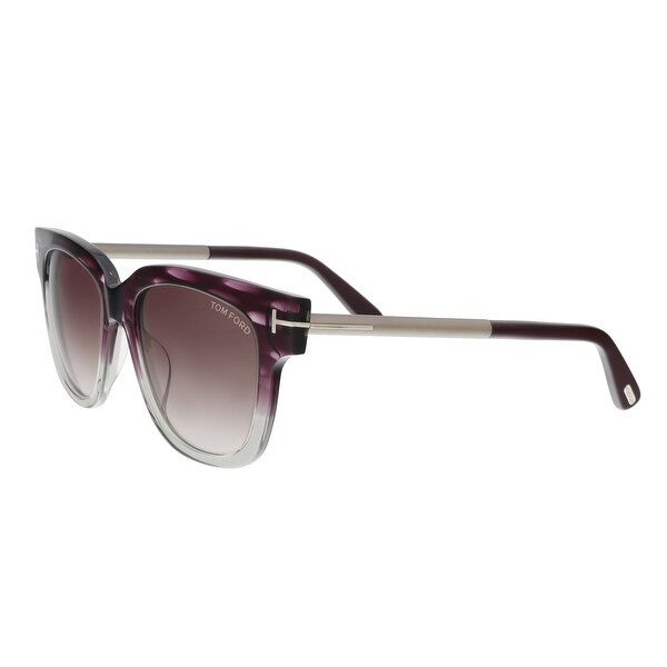 f6a6bacc15ce Tom Ford FT0436 5383T TRACY Purple Silver Square Sunglasses - 53-18-140