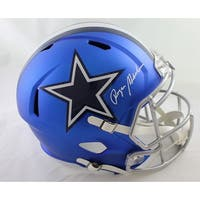 Roger Staubach Autographed Dallas Cowboys Blaze Replica Helmet JSA