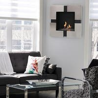 Sunnydaze Chaleur Ventless Wall-Mounted Bio Ethanol Indoor Fireplace - 23-Inch