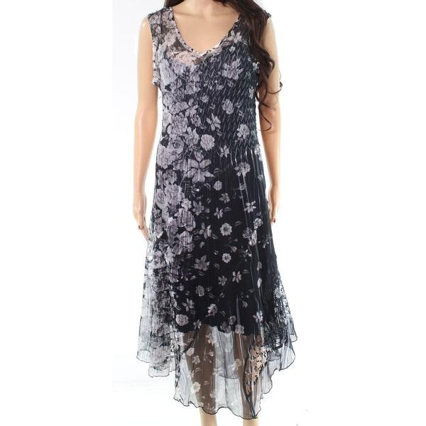 d7af353b6c0 Shop Komarov White Women s Large Silk V-Neck Shift Dress - On Sale ...
