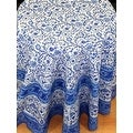 Handmade Floral Rajasthan Block Print Tablecloth 100% Cotton Rectangular Square Round Napkins - Thumbnail 13
