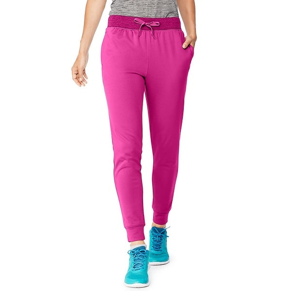 Hanes Sport Women's Performance Fleece Jogger Pants with Pockets - Color - Fresh Berry/Fresh Berry Heather - Size - L. Opens flyout.
