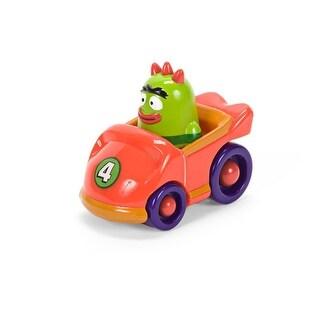 """Yo Gabba Gabba 4"""" Figure: Brobee in Red Race Car - Multi"""