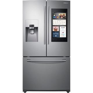 Samsung RF265BEAES 36 Inch Wide 24.2 Cu. Ft. Energy Star Rated French Door Refrigerator with Family Hub and Auto Pull-Out