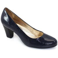 Marc Joseph New York Womens Midtown Pump Leather Closed Toe Classic Pumps