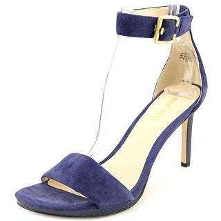 Nine West Mean To Be Women Open Toe Suede Blue Sandals