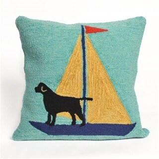 Trans-Ocean Imports Frontporch Sailing Dog Yellow 18 in. Square