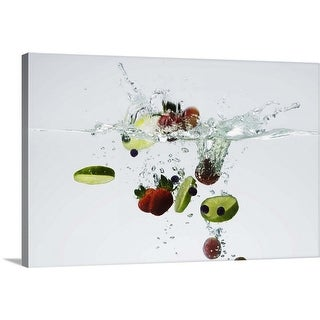 """""""Fruits in water"""" Canvas Wall Art"""