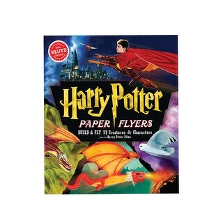 Klutz Harry Potter Paper Flyers Craft Kits - Build & Fly HP Creatures, Brooms & More - multi