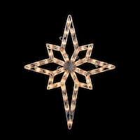 "20"" Lighted Star of Bethlehem Christmas Window Silhouette Decoration - White"