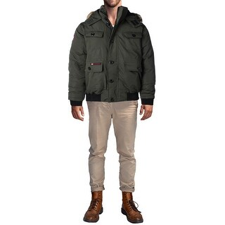 Canada Weather Gear Men's Heavy Weight Faux Goose Down Jacket Coat