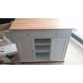 meryland white modern kitchen island cart free shipping