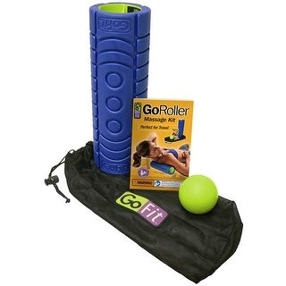 "GoFit 12"" GoRoller Foam Massage Roller Kit with Training Manual - Blue"