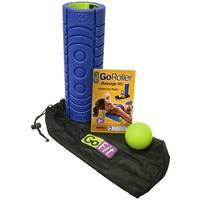 "GoFit 12"" GoRoller Foam Massage Roller Kit with Training Manual - Blue"