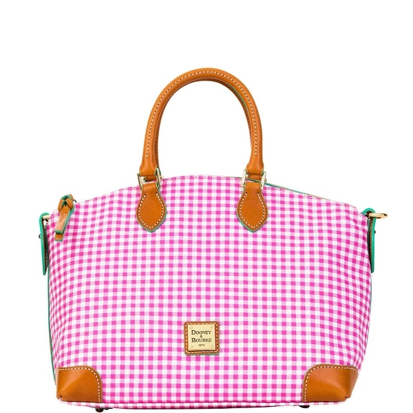 Dooney & Bourke Small Gingham Domed Satchel (Introduced by Dooney & Bourke at $228 in Jan 2016) - Pink