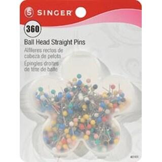 Size 17 360/Pkg - Ball Head Quilting Pins In Flower Case