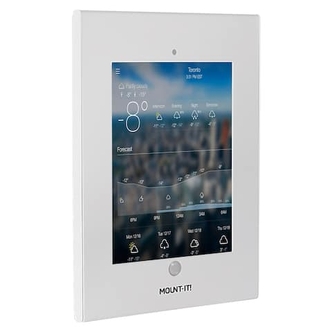 Mount-It! iPad Wall Mount Enclosure w/ Anti-Theft Function for Public Displays - MI-3772