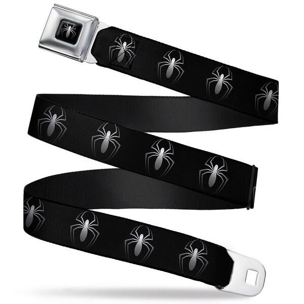 """Marvel Universe """"New"""" Spider Logo Full Color Black White """"New"""" Spider Logo Seatbelt Belt"""