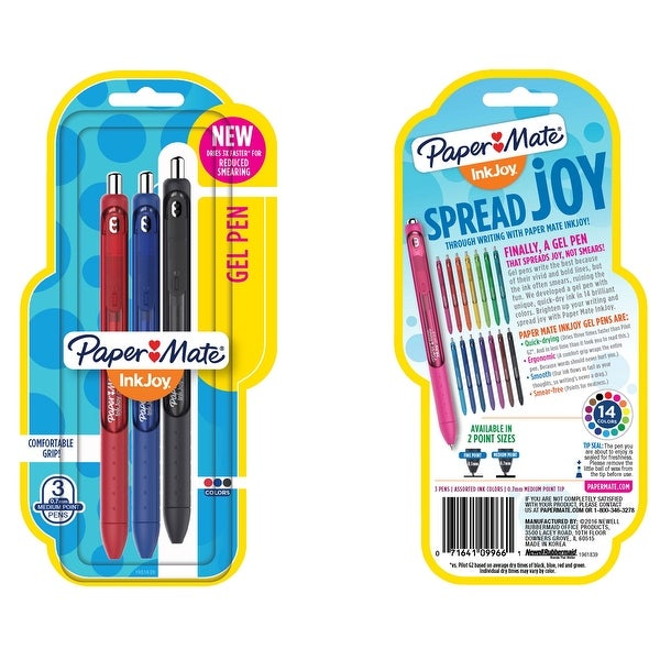Paper Mate InkJoy Gel Pen, 0.7 mm, Assorted, Set of 3. Opens flyout.