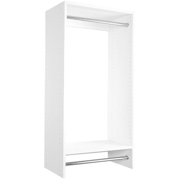 Modular Closets Wood Double Hanging Closet Organizer System