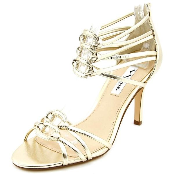 Nina Vetta Women Golden Metallic Sandals