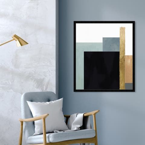 Oliver Gal 'Me Boheme' Abstract Wall Art Framed Print Geometric - Black, Gold