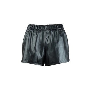 MADE for Impulse Women's Metallic Perforated Fashion Shorts