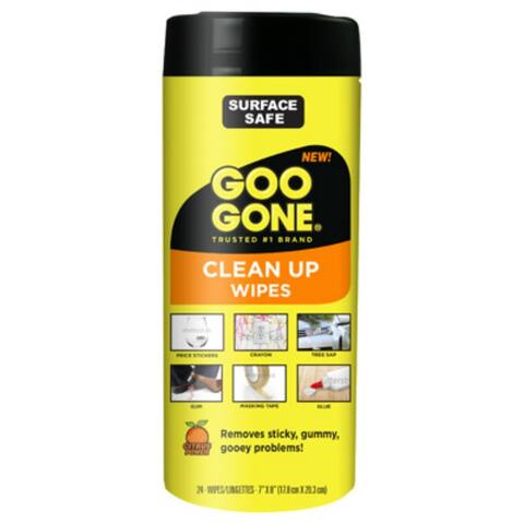Goo Gone 20000 Clean Up Wipes, 24-Count