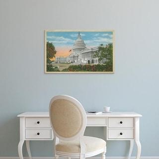 Easy Art Prints Unknown's 'Capitol Building, Washington, D.C.' Premium Canvas Art