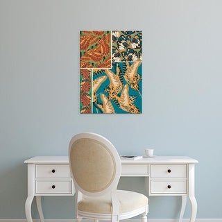 Easy Art Prints Eugene Seguy's 'Decorative Butterflies IV' Premium Canvas Art