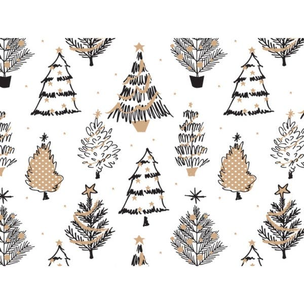 shop golden holiday trees 24 x85 roll gift wrap overstock 22893939 golden holiday trees 24 x85 roll gift wrap