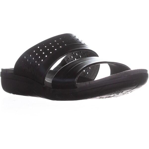 BareTraps Jimina Flat Comfort Slide Sandals, Black