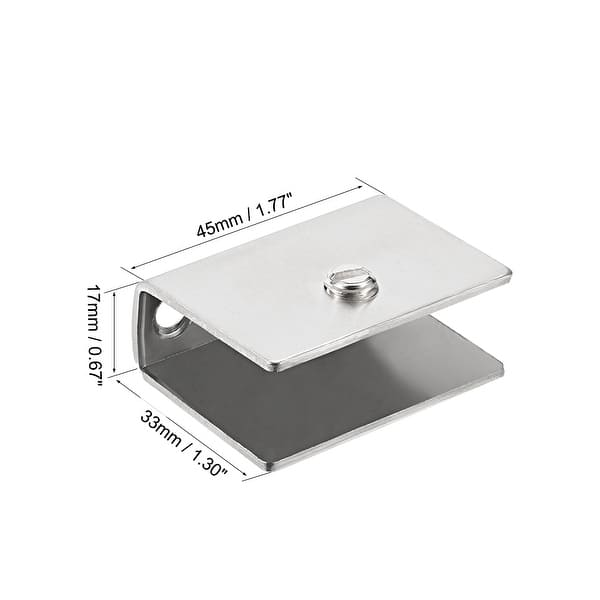 Glass Shelf Bracket Glass Clamp for 3-33mm Wood or Glass Shelves