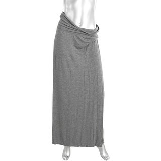 Studio M Womens Jersey Fold Over Maxi Skirt - S