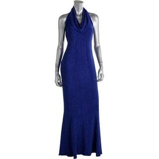 Jessica Howard Womens Halter Glitter Formal Dress - 6