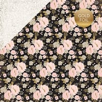 """Wedding Bliss Foiled Cardstock 12""""X12""""-Wedding Floral"""